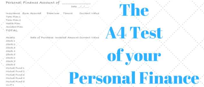 The A4 Test for your Personal Finance